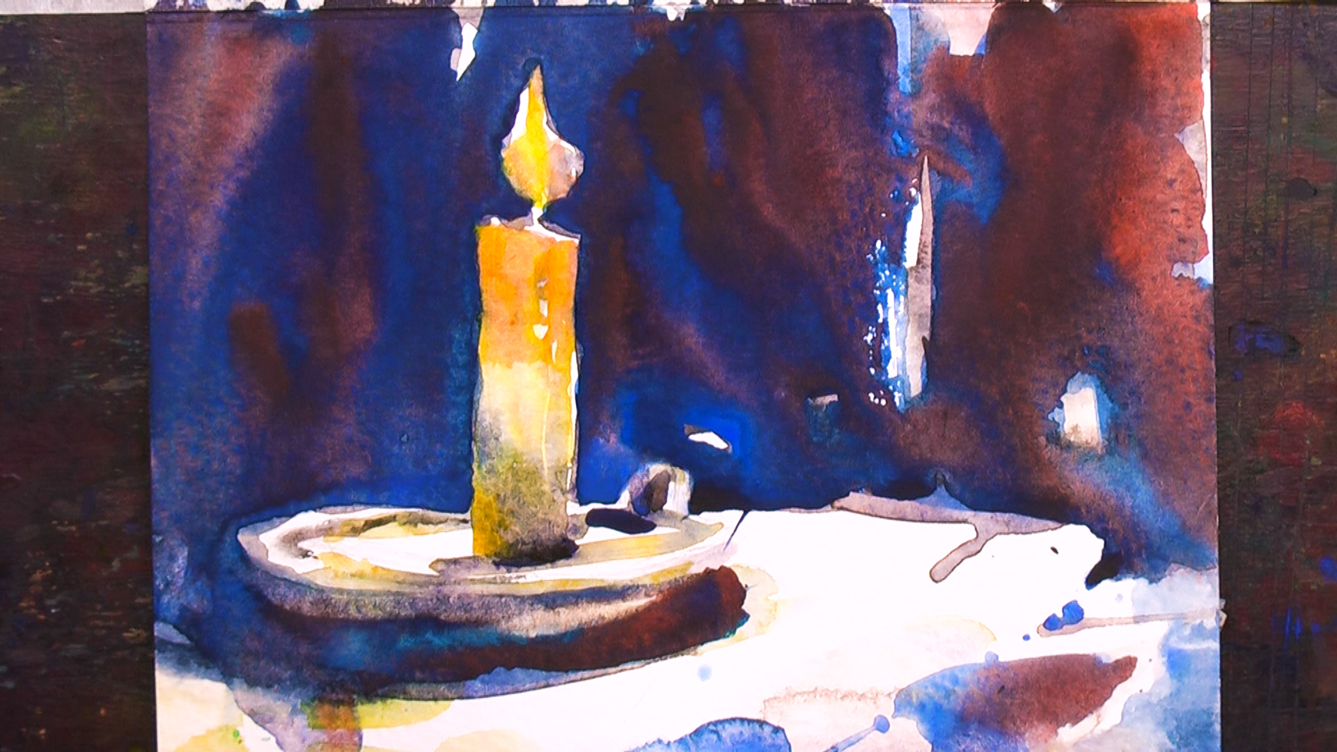 Christmas Card Candle 3