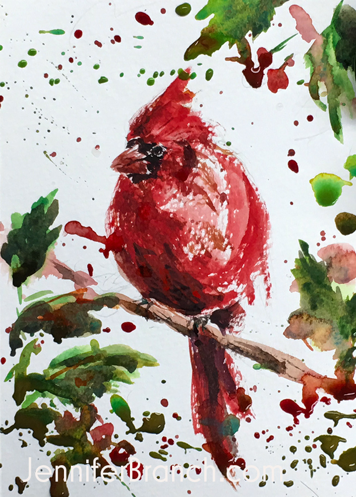 12 Days of Christmas Cards, Cardinal by Jennifer Branch