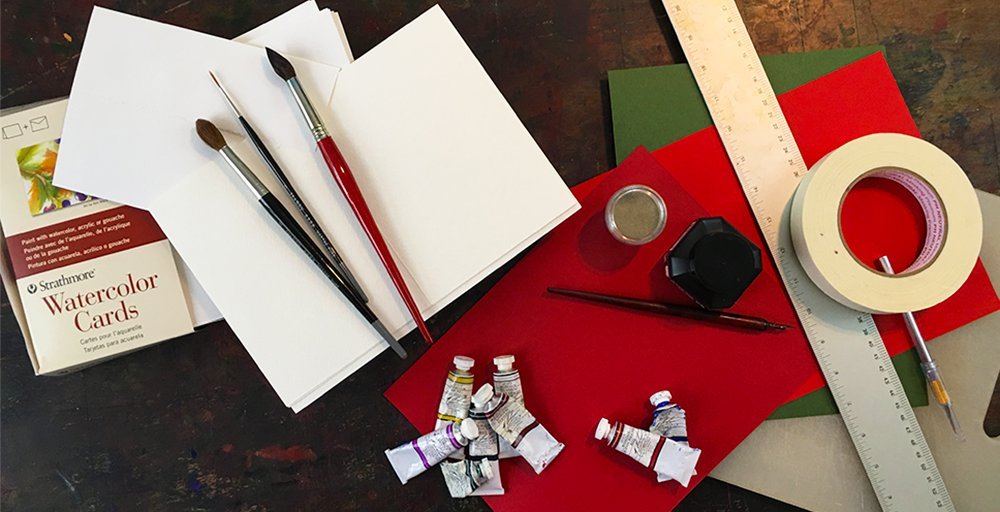 DIY Christmas Cards Materials