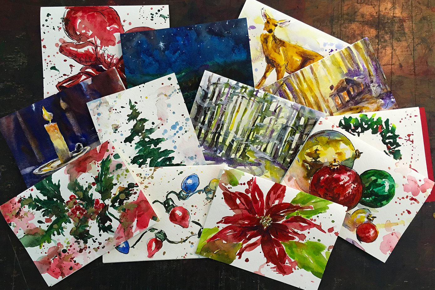 12 Days of Christmas Cards by Jennifer Branch