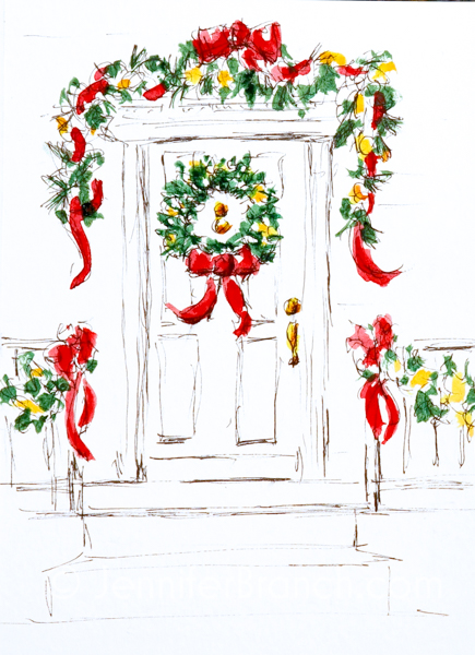 Christmas Card Door 3