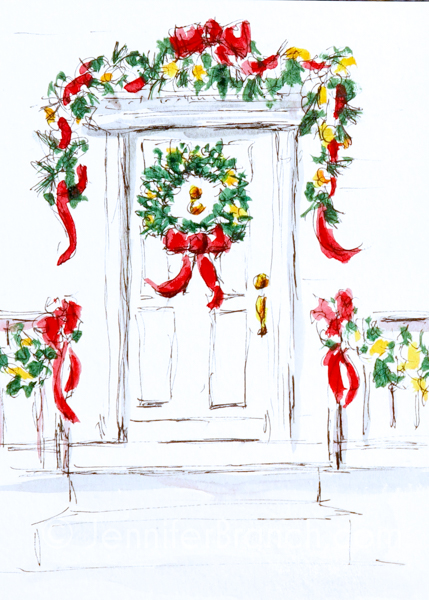 Christmas Card Door 4