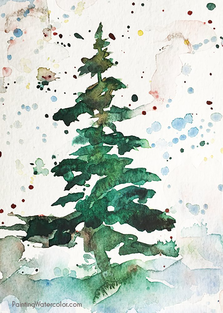 12 Days of Christmas Cards, Christmas Tree by Jennifer Branch