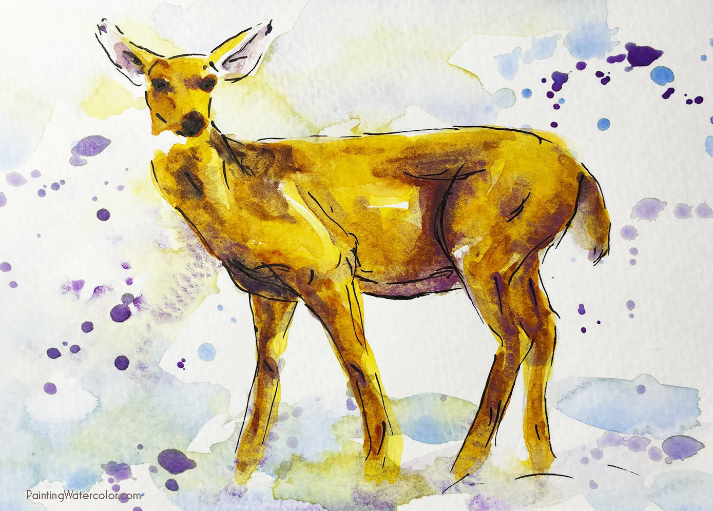 12 Days of Christmas Cards, Deer by Jennifer Branch