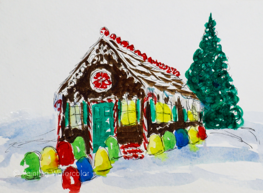 Christmas Card Gingerbread House Tutorial 5