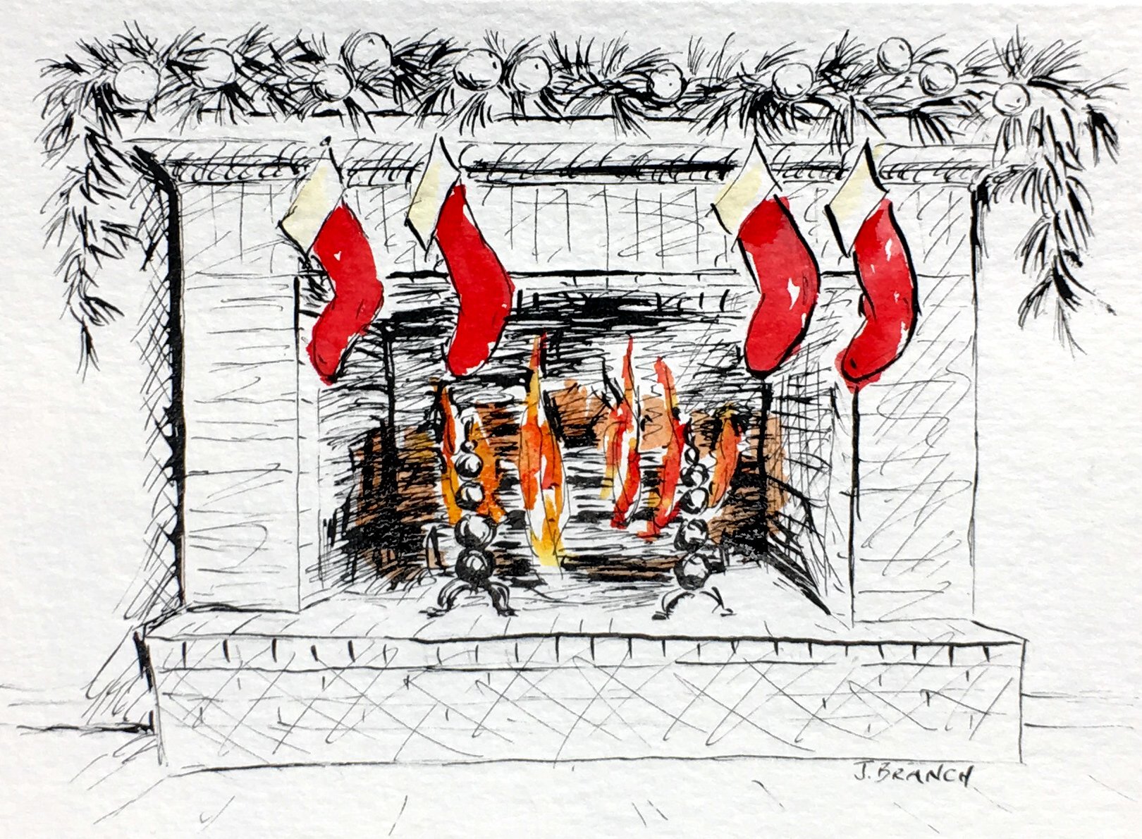 Christmas Card Hearth 1