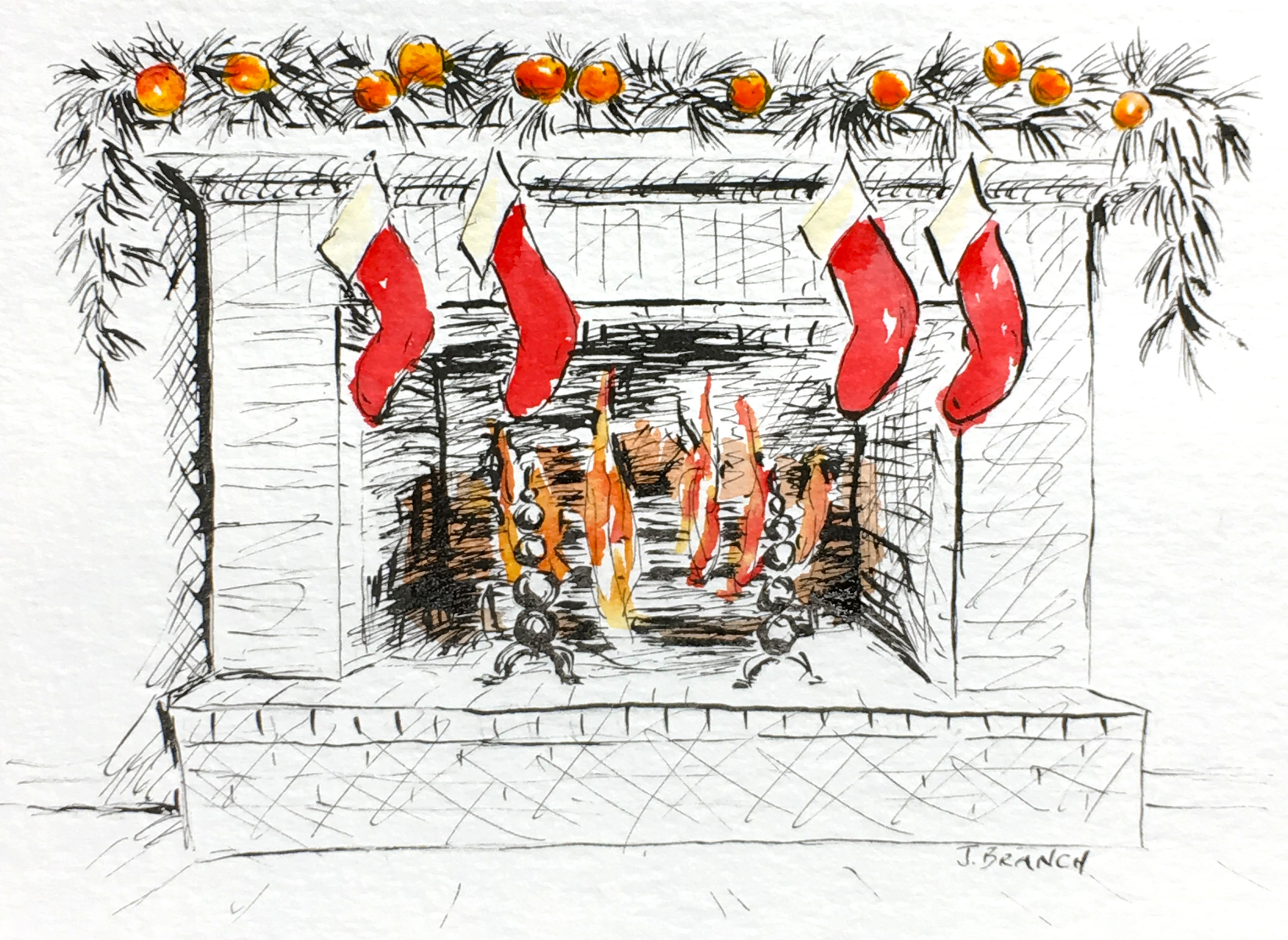 Christmas Card Hearth 2