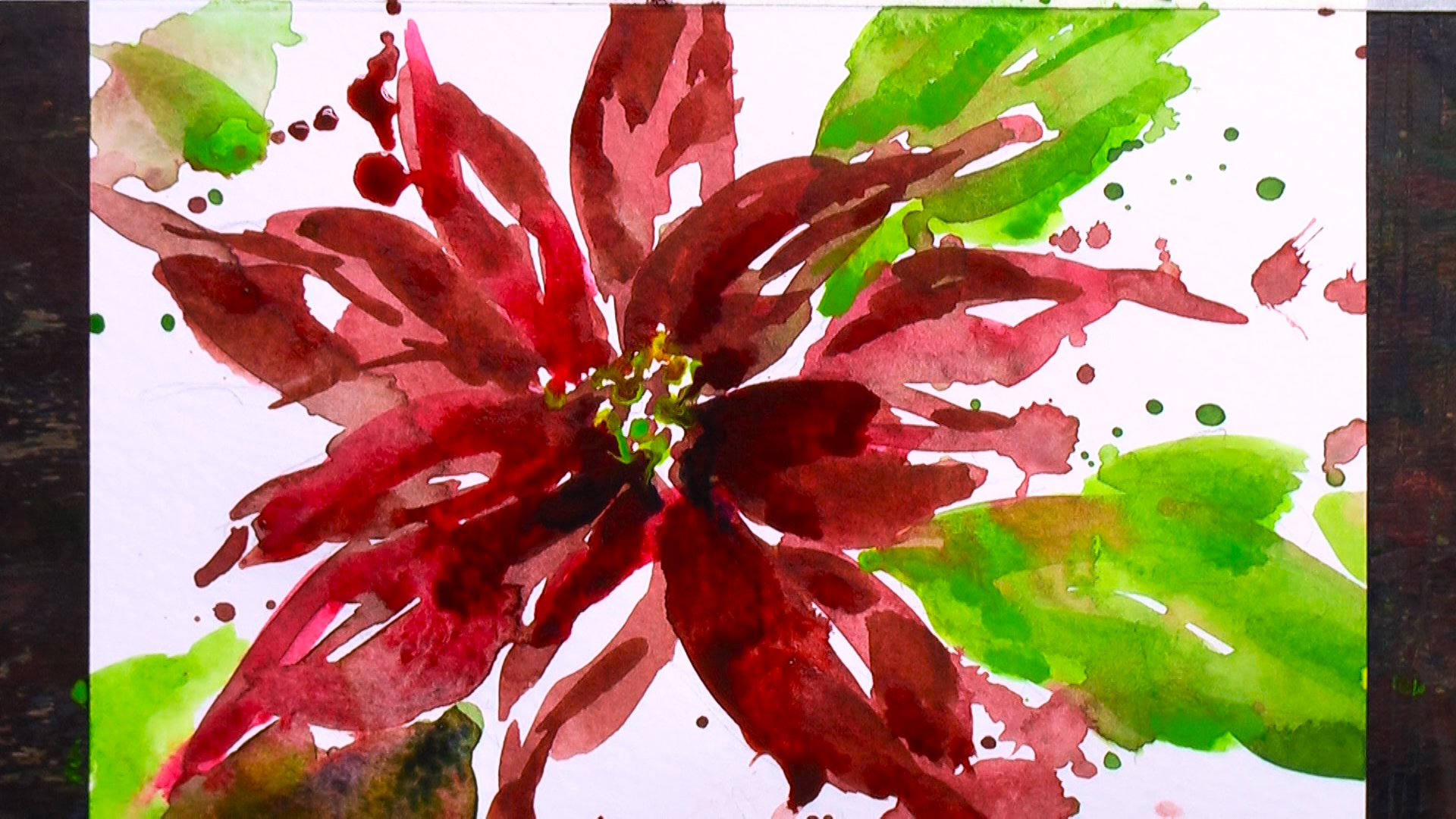 Christmas Card Poinsettia 3