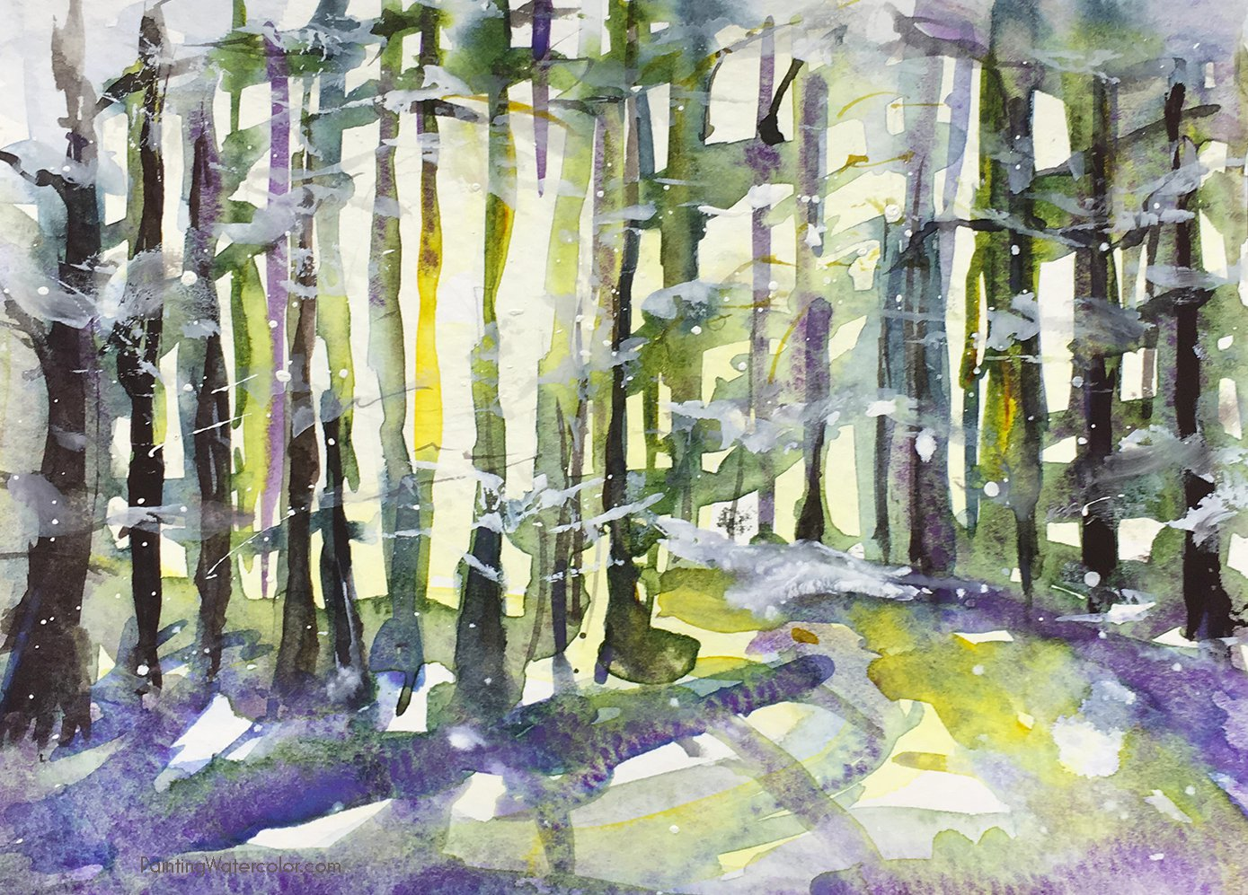 12 Days of Christmas Cards, Snowy Woods by Jennifer Branch