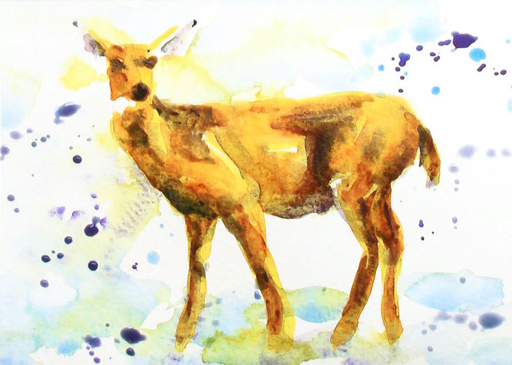 Christmas Card deer 3