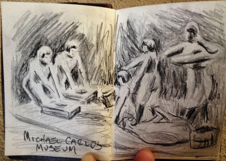 Sketching at the Michael Carlos Museum