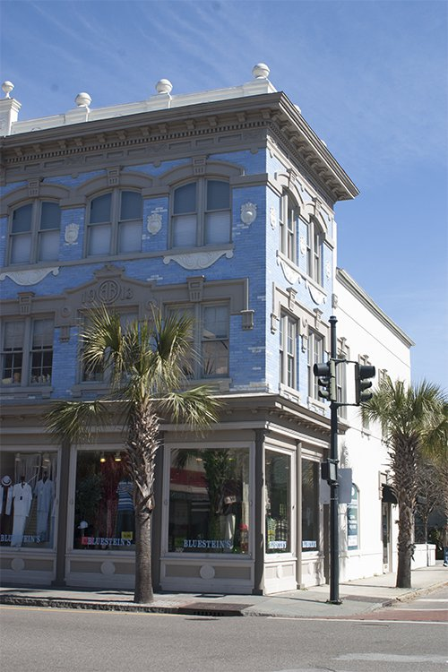 sketching a blue house in Charleston photo