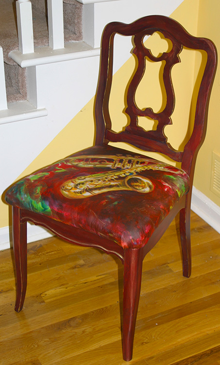 All That Jazz chair  by Jennifer Branch.