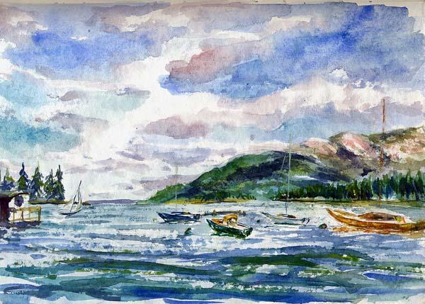 Manset Harbor Sketching