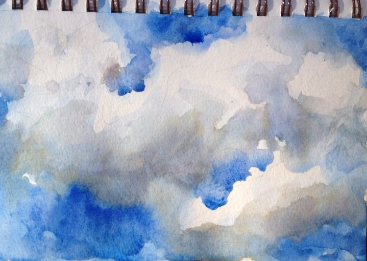Blue Sky Sketch on Strathmore Visual Journal