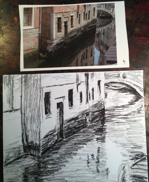sketching Venice, Italy