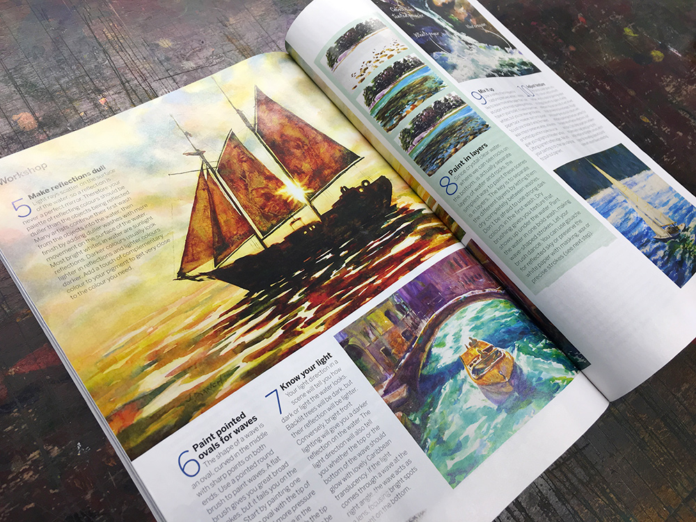Jennifer Branch's article in Paint and Draw Magazine.