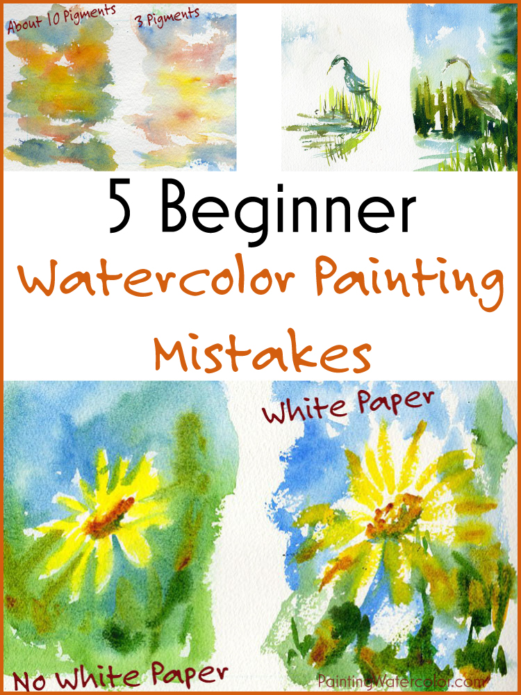 5 Beginner Watercolor Painting Mistakes painting lesson by Jennifer Branch