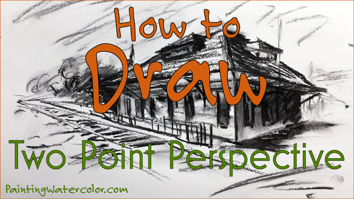 2 point perspective drawing lesson