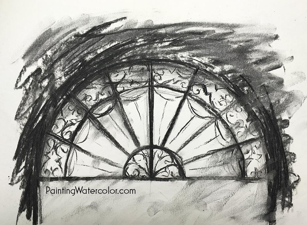 Arched Doorway Sketch