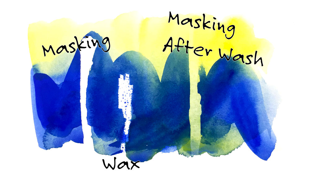 Masking Watercolor Painting Tutorial