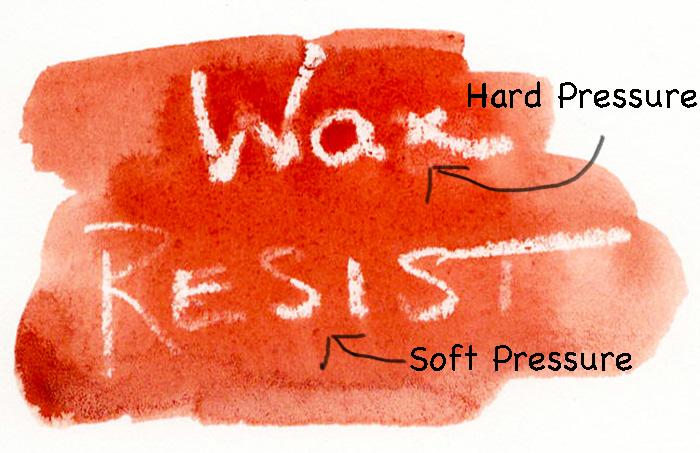 Wax on hot press paper.