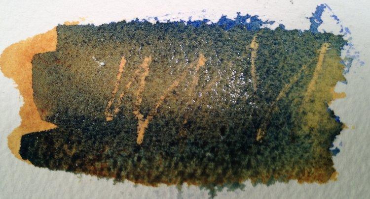 Watercolor wax resist