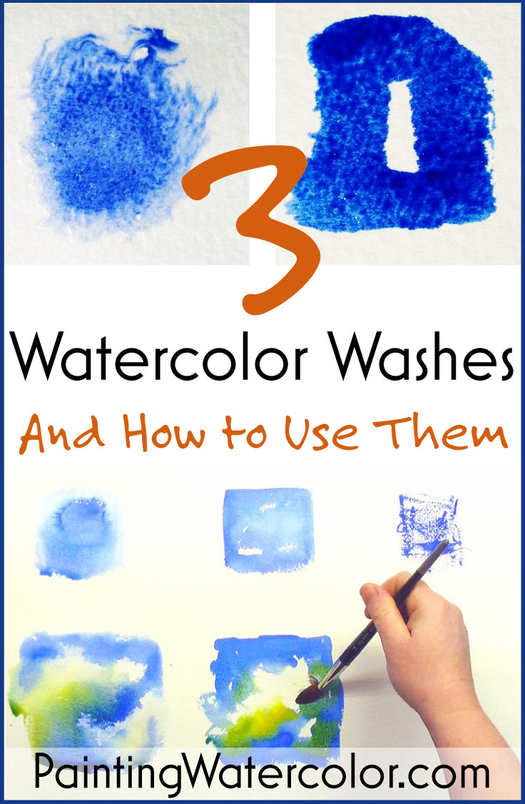 3 Watercolor Washes painting lesson by Jennifer Branch