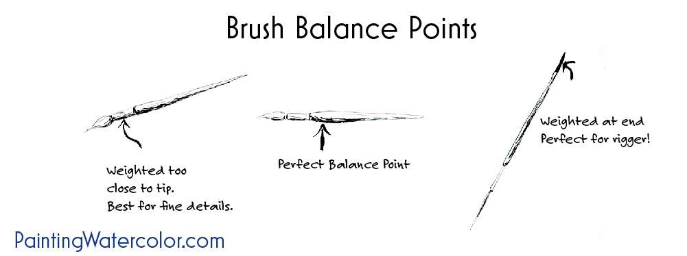 Watercolor Painting Brush Balance