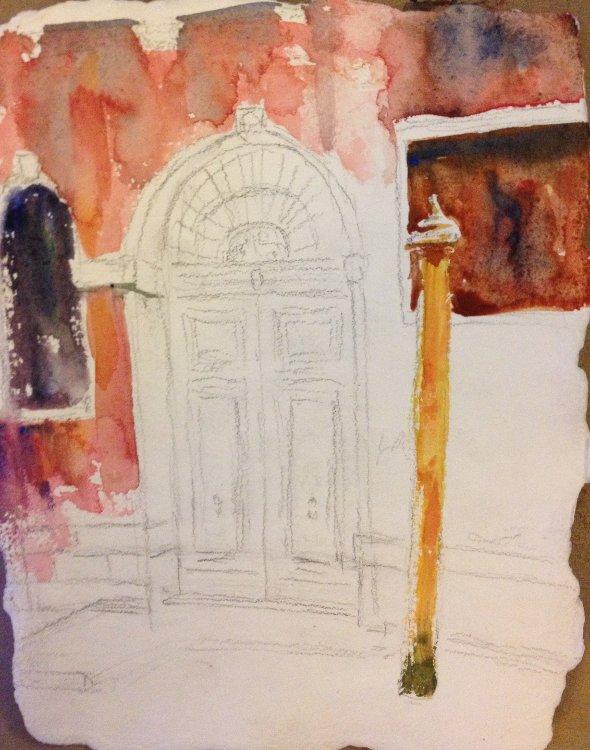 Blue Door, Venice Painting Tutorial 3