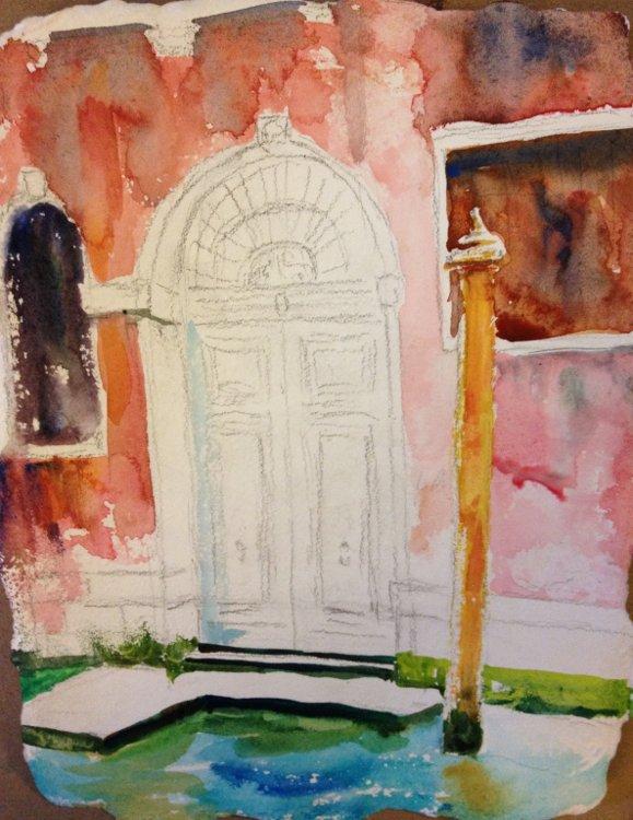 Blue Door, Venice Painting Tutorial 4