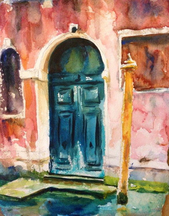 Blue Door, Venice Painting Tutorial 5