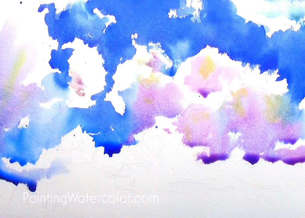 Blue Sky Sketching Painting Tutorial 3