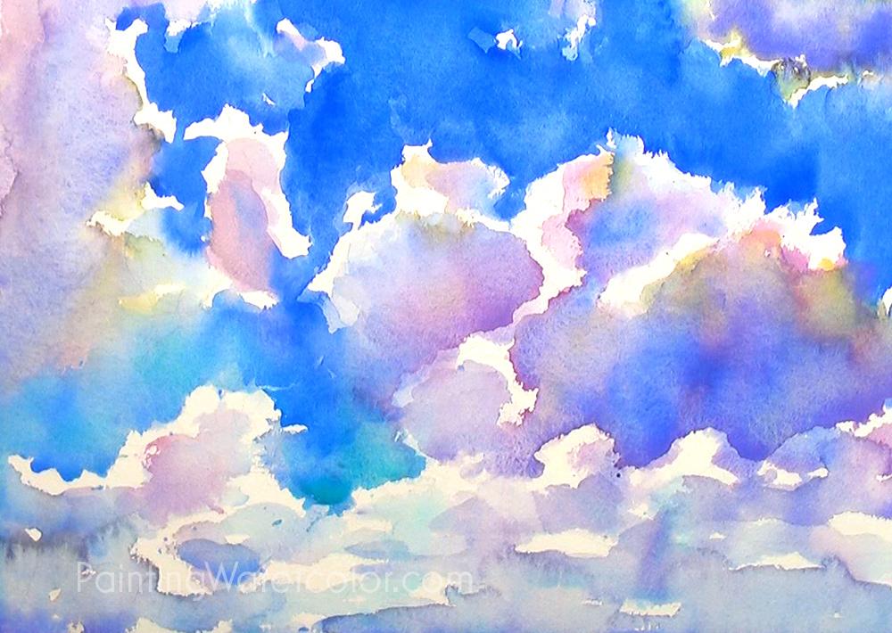 Blue Sky Sketching Painting Tutorial 4