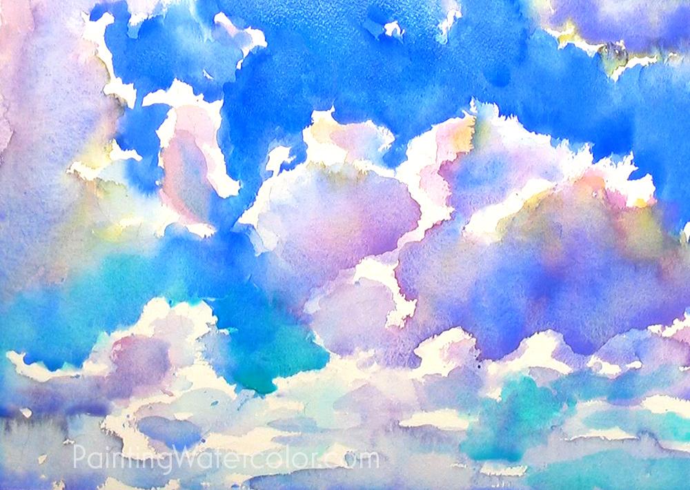 Blue Sky Sketching Painting Tutorial 5