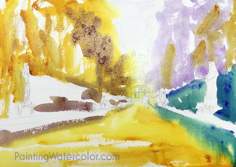 Boboli Gardens Painting Tutorial 3