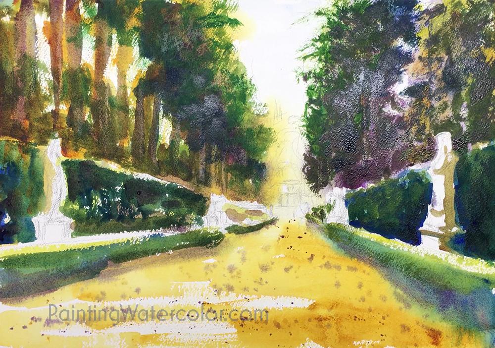 Boboli Gardens Painting Tutorial 5