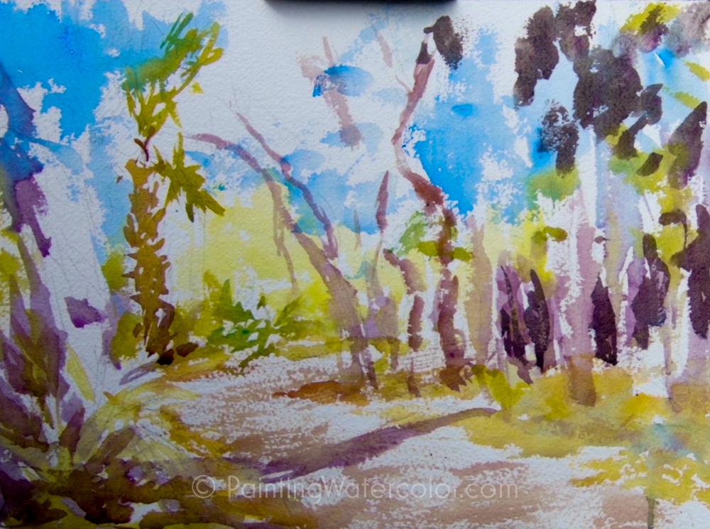 Coastal Road Sketch Painting Tutorial 3