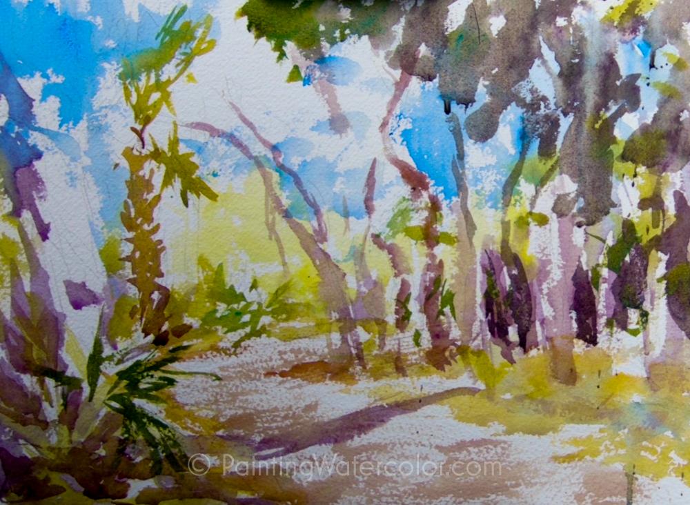 Coastal Road Sketch Painting Tutorial 4