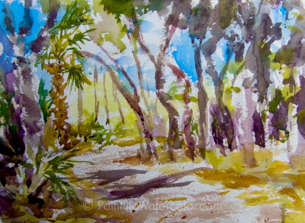 Coastal Road Sketch Painting Tutorial 5