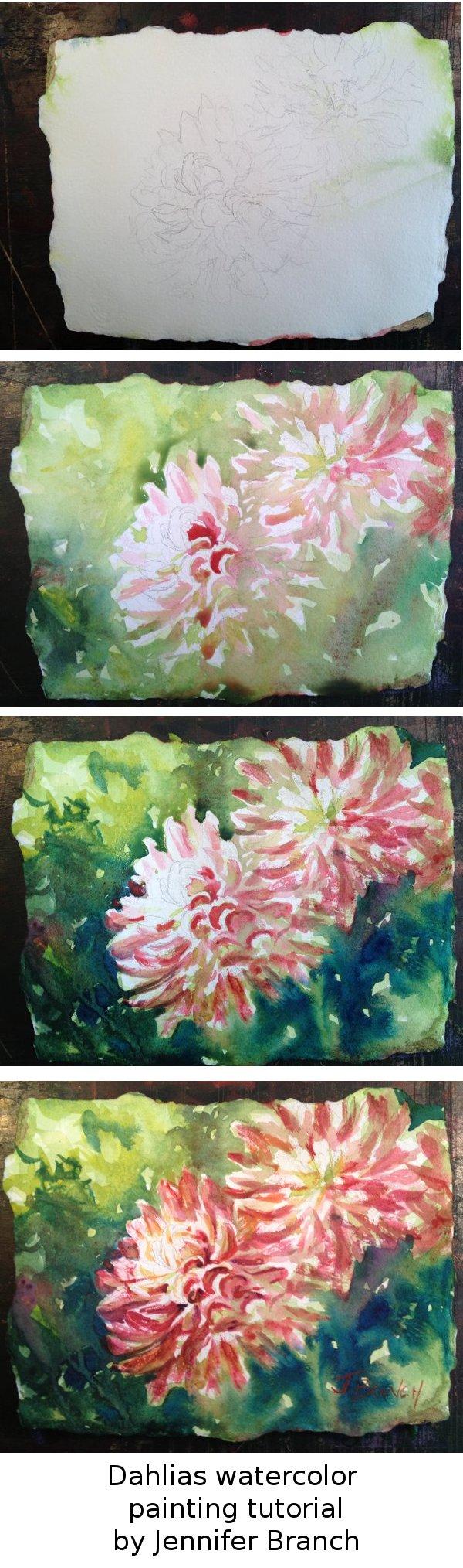 Dahlia Watercolor Painting Tutorial