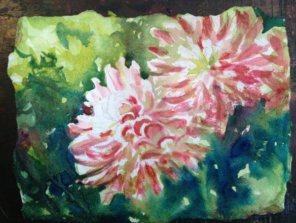 Dahlia Watercolor Painting Tutorial 6