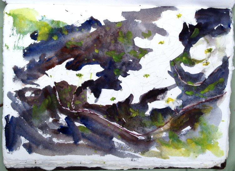 Dogwood Flowers Painting Tutorial 5