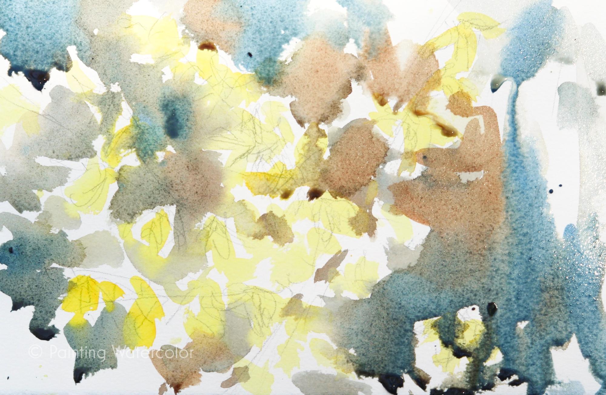 Forsythia Sketch Painting Tutorial Painting Tutorial 3