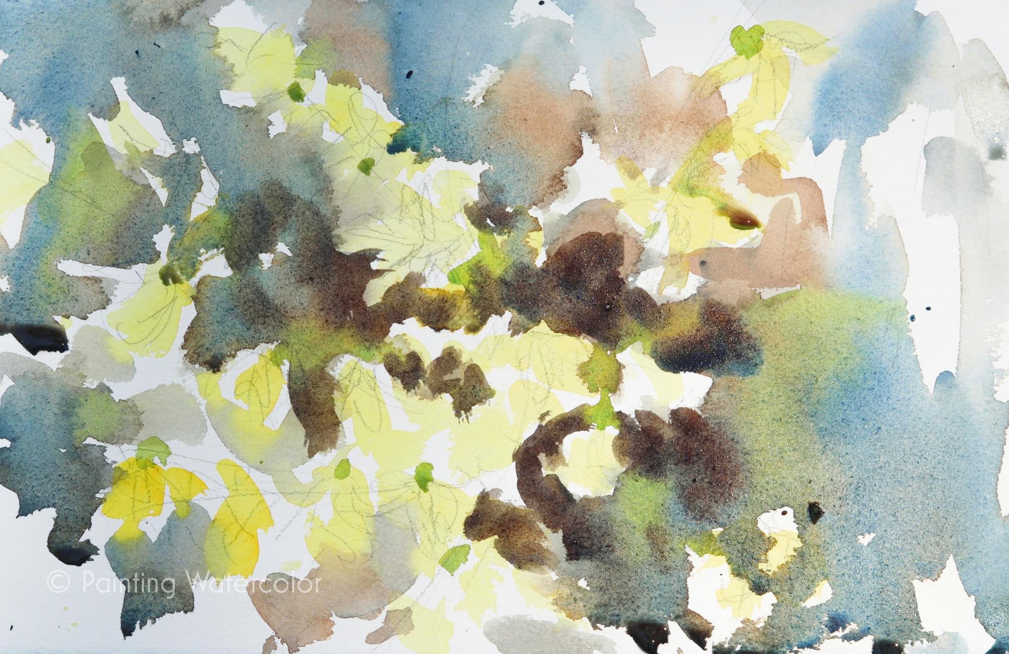 Forsythia Sketch Painting Tutorial Painting Tutorial 4
