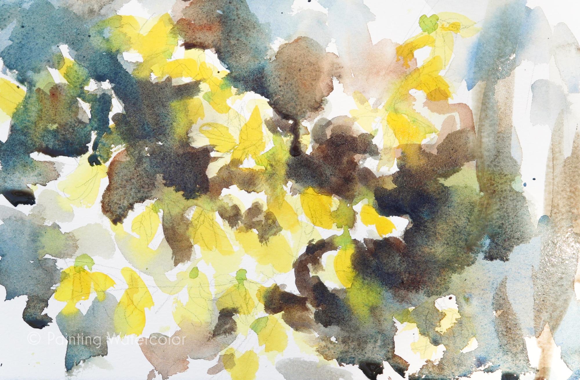 Forsythia Sketch Painting Tutorial Painting Tutorial 5