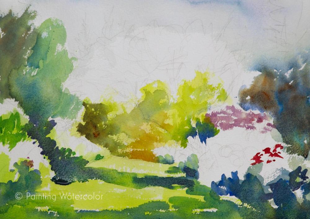 Garden Path Painting Tutorial Painting Tutorial 4