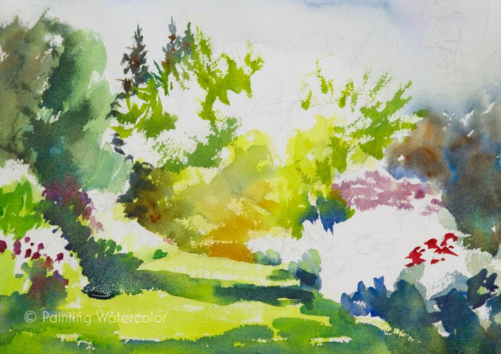 Garden Path Painting Tutorial Painting Tutorial 5