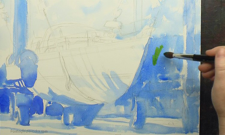 Hinckley Boatyard Watercolor Painting Lesson 1