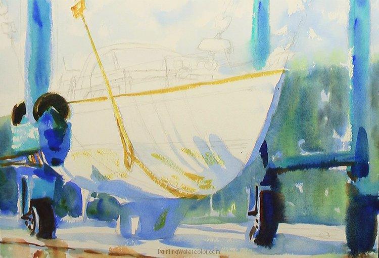 Hinckley Boatyard Painting Tutorial 3